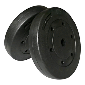 2 x 10 kg brand new boxed gym weight plates vinyl