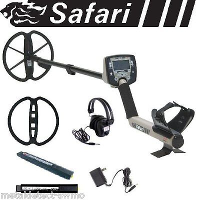 Minelab New Safari Metal Detector Pro Pack with Headphones, NiMH Pack + Charger