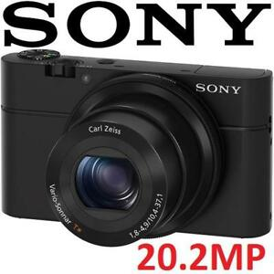 NEW OB SONY DIGITAL CAMERA 20.2MP DSC-RX100 145480064 CMOS POINT SHOOT CAM NEW OPEN BOX