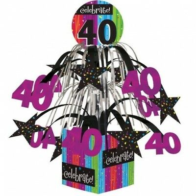 Milestone Celebration 40th Birthday Mini Cascade Centerpiece Party Decoration - 40th Birthday Decor