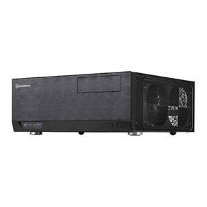 Silverstone GD09B Grandia Black HTPC ATX Case with USB 3.0 & Black Interior