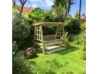 Garden Swing , Wooden Garden Furniture , Wooden Swing . 3 seater