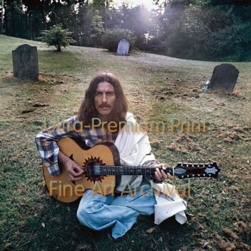 Beatles GEORGE HARRISON at Friar Park 1970 ** HI-RES PRO ARCHIVAL Photo 8.5x11