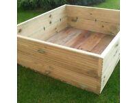 Huge1 Metre X 1 Metre Sandpit / Planter / Vegetable Garden / Top Quality BRAND NEW Built To Last.