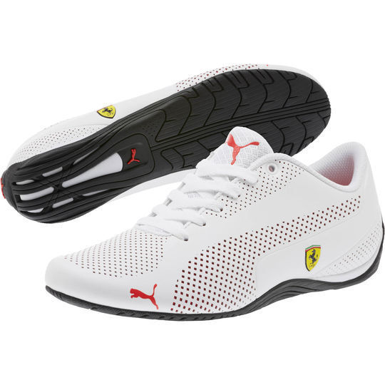 NIB Men's Puma FERRARI SF DRIFT CAT 5 ULTRA SHOES Shoes White