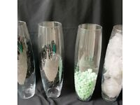 4 TALL VASES NEW BOXED