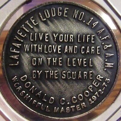 Vintage Lafayette Masonic Lodge Wilmington, DE Token Coin - Delaware