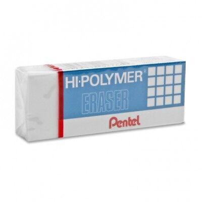 12 Pack Pentel Hi-polymer Block Eraser - White Ilrt6-14010-zeh10-nib