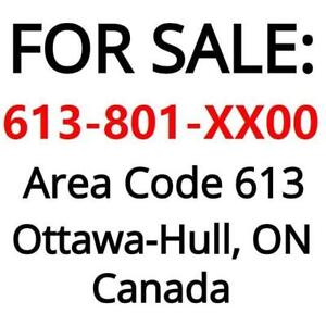 VIP business number 613-801-XX00 , good for realtor, installer or business owners, no contract, portable to any provider