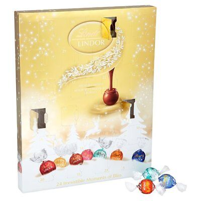 Lindt Lindor Blissful Advent Calendar Gift 300g Limited Stock Clearance