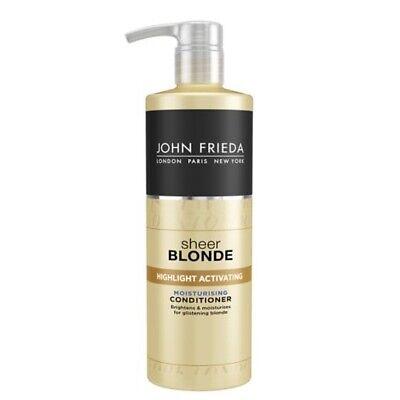 John Frieda Sheer Blonde Highlight Activating Moisturising Conditioner 500ml