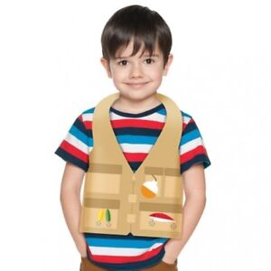 Camp Out Child Size Plastic Favor Fishing Vest 4 Per Pack Camping Party Favors