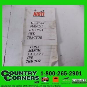 USED LK3054 4WD TRACTOR, PARTS AND OWNERS MANUAL