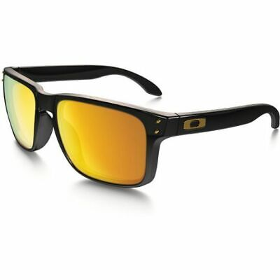 New Oakley Holbrook sunglasses Black 24K Irid OO9244 20 AUTHENTIC gold Asian Fit