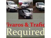 Vivaro trafic primastar vans wanted non runner mot failure snapped cam belt etc