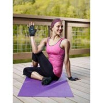 Black Yoga Gloves w/Superior NON-Slip Grip 05-0763LT2