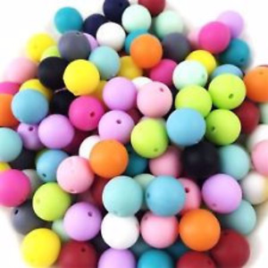Silicone Beads for Teething Necklaces, Sensory Toys & more