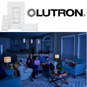 NEW LUTRON WIRELESS DIMMER KIT - 108948089 - W/ SMART BRIDGE WHITE DIMMER KIT
