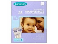 NEW 50 x Lansinoh Baby Breast milk Storage Bags