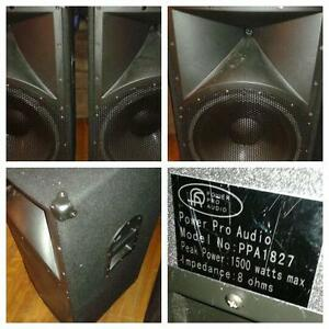 2-1500 watt Dj Spekers
