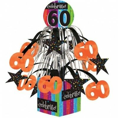 Milestone Celebration 60th Birthday Mini Cascade Centerpiece Party Decoration