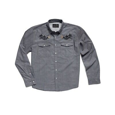 Howler Brothers Men's gray vented Gaucho western snap Howler Posse Rare Xl