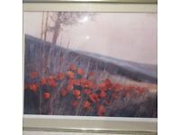 Poppy Print Framed Large Picture