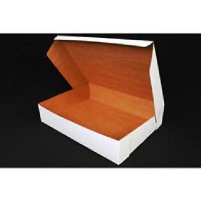 10 Count White 19x14x4 Bakery Or Cake Box