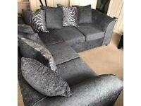 Chenille fabric grey colour