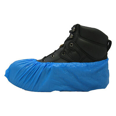 Carpet Clean Hvac Disposable Blue Polyethylene Shoe Covers Size Xlarge 1000cs.