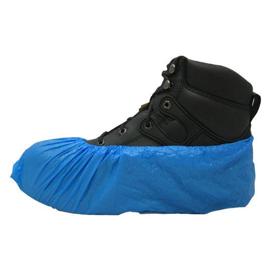 Carpet Clean, HVAC Disposable Blue Polyethylene Shoe Covers Size Large 1000/Case