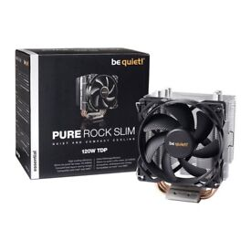 be quiet! Pure Rock Slim Single Tower CPU Air Cooler Compact Intel/AMD Cooler Brand New Unused