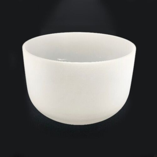 432Hz 18 Inch F Note Frosted Quartz Crystal Singing Bowl Sound Healing W /Mallet