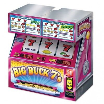 Tabletop Cardboard Slot Machine Decoration 17