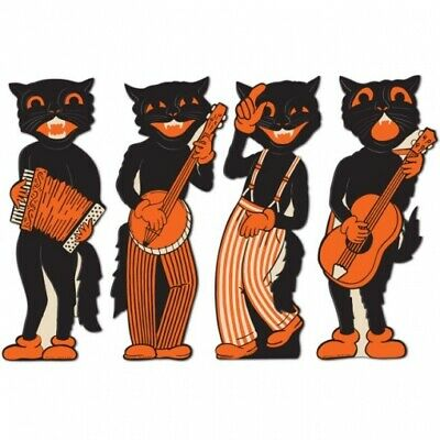 Vintage Halloween Scat Cat Band Cutouts Halloween Party Decorations Supplies