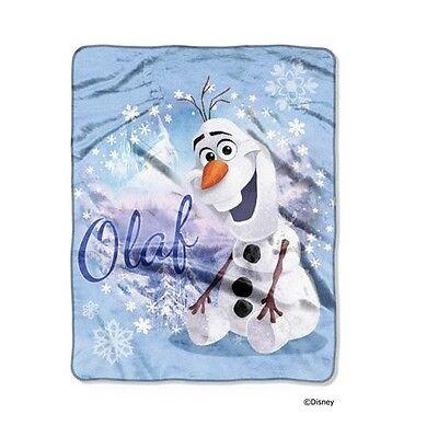 DISNEY FROZEN movie dvd OLAF SNOWMAN SILK TOUCH SUPER SOFT THROW BLANKET NEW