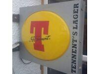 Tennents Bar Pub Sign