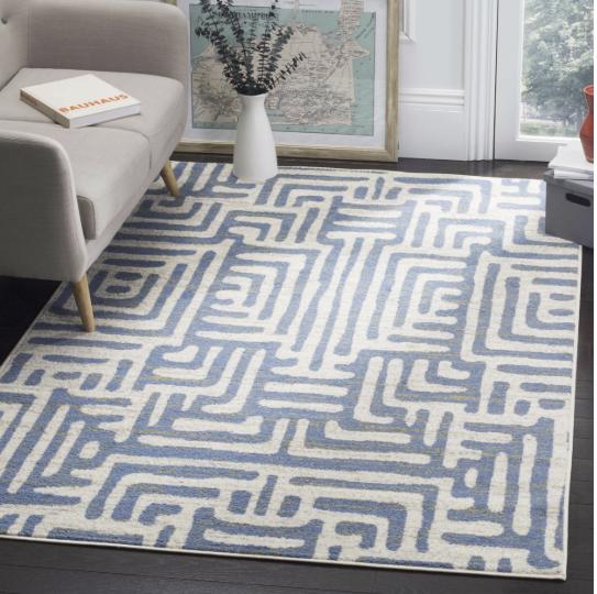 Safavieh Blue Area Rug 9' X 12' Carpet Home Decor Indoor Out