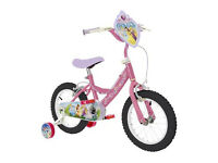 DISNEY PRINCESS Kids Childrens Girls Bike Bicycle 14 Inch Wheels & Stabilisers Brand New & Boxed