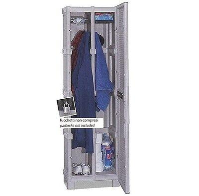 ARMADIETTO SPOGLIATOIO SPORCO PULITO MOBILE BOX IN RESINA PALESTRA ARMADI 50 cm