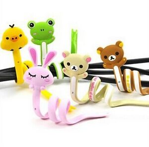 2pcs-small-animals-Earbud-Earphone-Computer-Cord-Cables-Winder-Wire-Holder