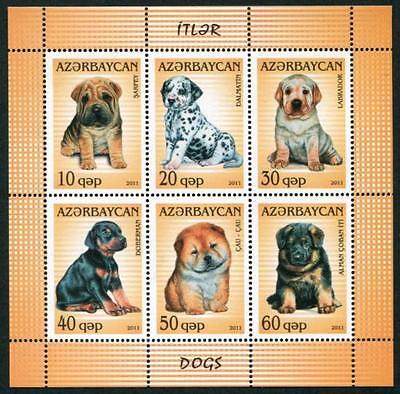 AZERBAIJAN Sc.# 975 Dogs Stamp Sheetlet of 6 Diff.