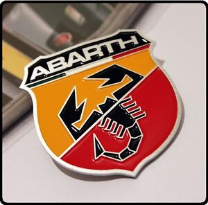 Abarth Car Badge Sticker Emblem 500 Punto Brava Bravo Stilo Uno Fiat  3D Boot 14