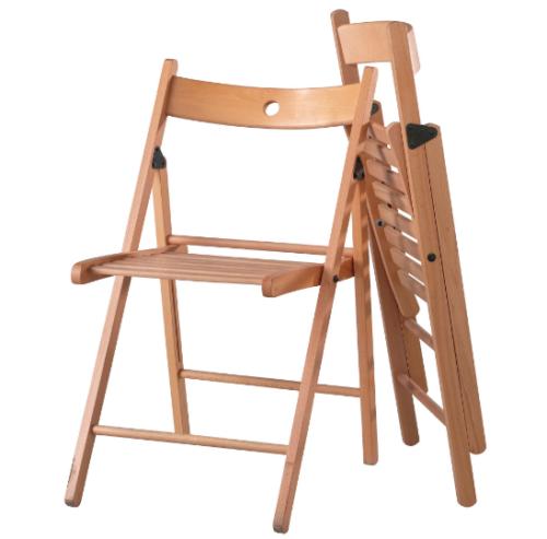 IKEA TERJE Klappstuhl Holz massive Buche Holzstuhl Stuhl Küchenstuhl Balkon