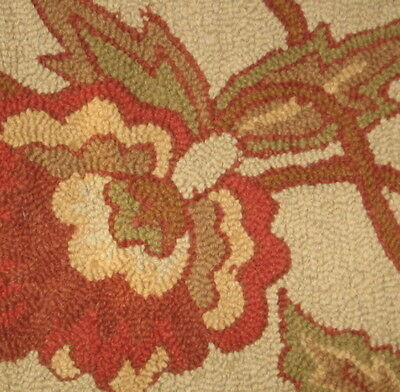 2.5x4.5' NEW Handmade Hand Tufted extra thick soft Wool Jacobean Floral Area Rug