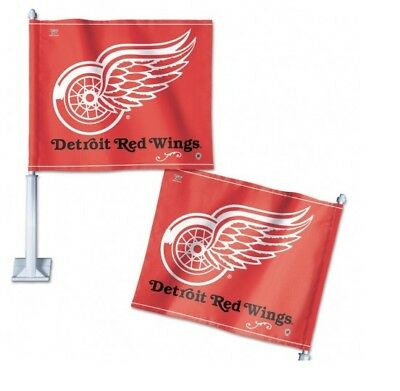 Detroit Red wings car flag ( set of 2 )