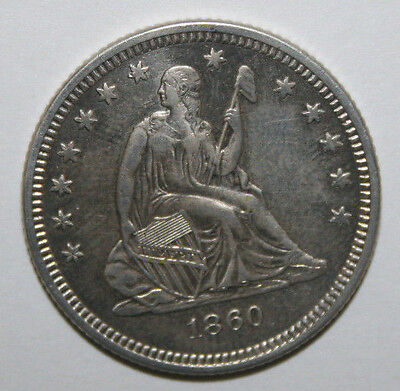 Click now to see the BUY IT NOW Price! 1860 O  SEATED LIBERTY SILVER QUARTER CLEANED   N72