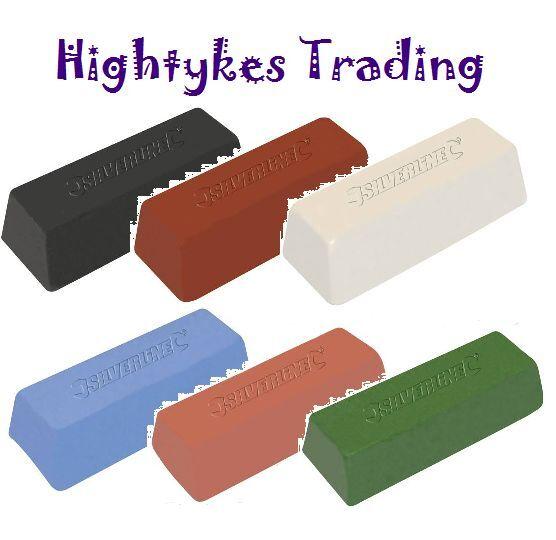 POLISHING BUFFING COMPOUND 500g soap wax bar all colours polish buff silverline