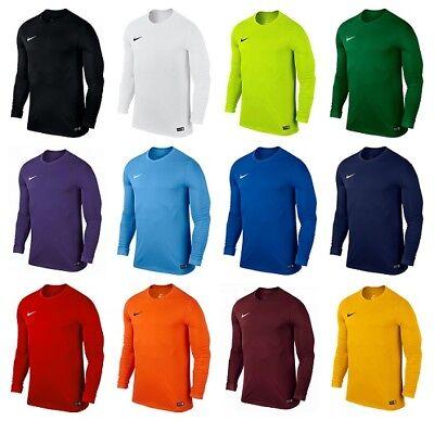 Nike Park Long Sleeve Kids Boys Football Shirts Sports Training Top Jersey Shirt