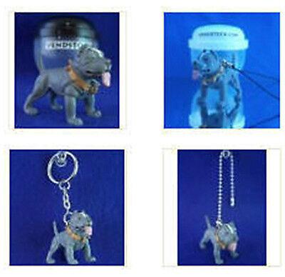 PIT BULL TERRIER #40 HOOD HOUNDS DOG FIGURE DANGLER KEYCHAIN LIGHT FAN LAMP PULL ()